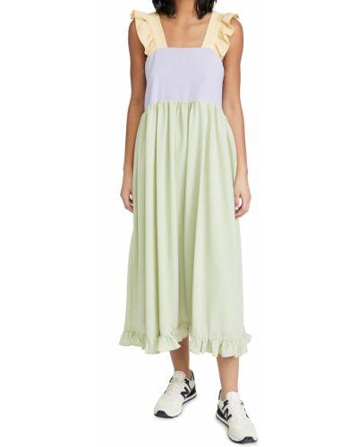 Зеленое платье миди с декольте квадратное Sister Jane