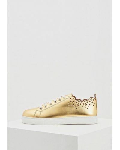 Низкие кеды золотого цвета Twin-set Simona Barbieri