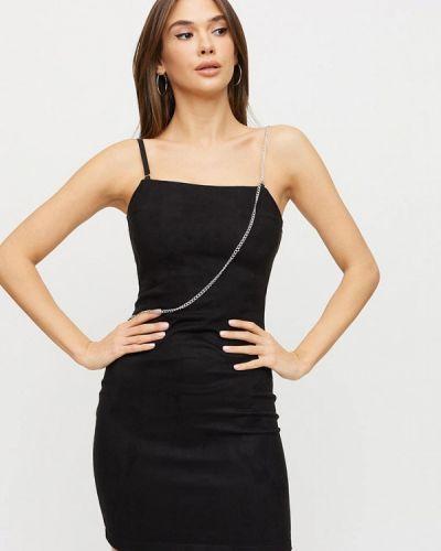 Кожаное черное платье Karree