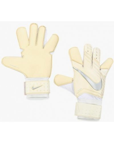 Бежевые перчатки Nike