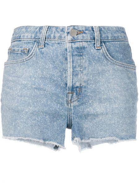 Джинсовые шорты с карманами со стразами J Brand