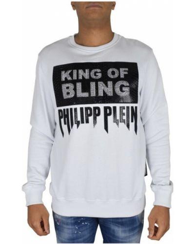 Biała bluza skórzana Philipp Plein