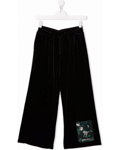 Czarne spodnie bawełniane Kenzo Kids