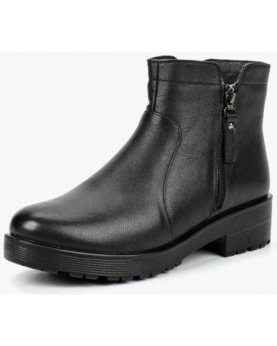 Кожаные ботинки осенние на каблуке Zenden Collection