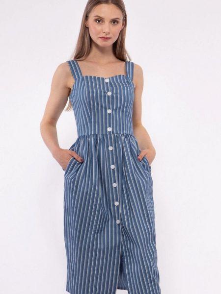 Платье прямое синее Vladi Collection