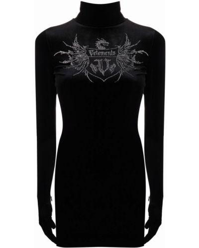 Платье макси с длинными рукавами - черное Vetements
