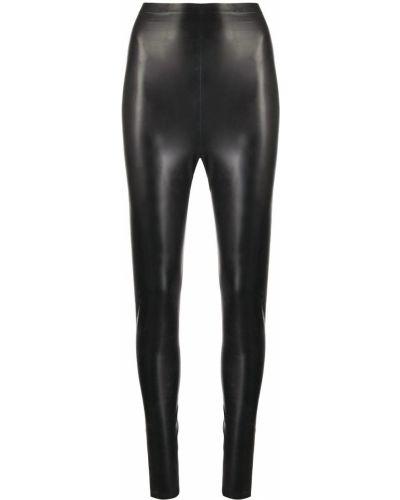 Леггинсы латексные - черные Saint Laurent
