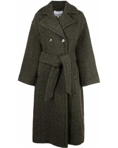 Пальто серое пальто Ganni