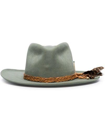 Коричневая фетровая шляпа-федора Nick Fouquet