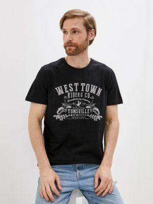 Черная футболка с короткими рукавами Fine Joyce