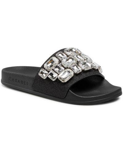 Czarne sandały Casadei