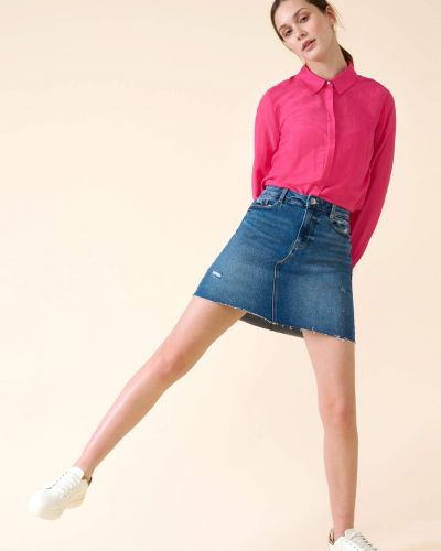 Niebieska spódnica mini bawełniana Orsay