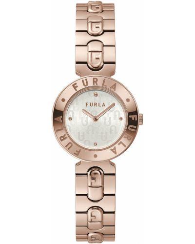 Złoty zegarek kwarcowy pozłacany Furla