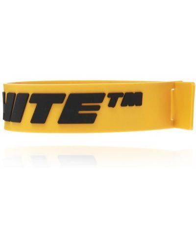 Żółta bransoletka Off-white
