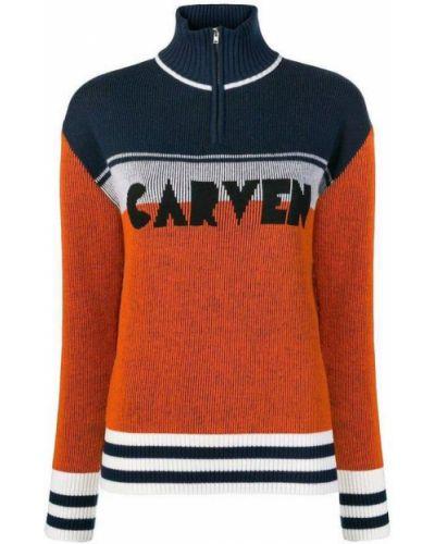 Sweter - pomarańczowy Carven