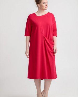 Платье прямое красный Larro