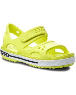Sandały zielony biały Crocs