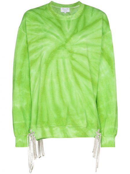 Bawełna trykotowy zielony bluza z mankietami Collina Strada