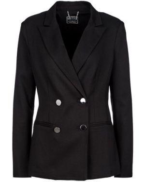 Пиджак черный двубортный Guess