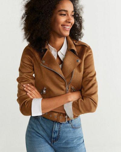Куртка осенняя коричневая Mango
