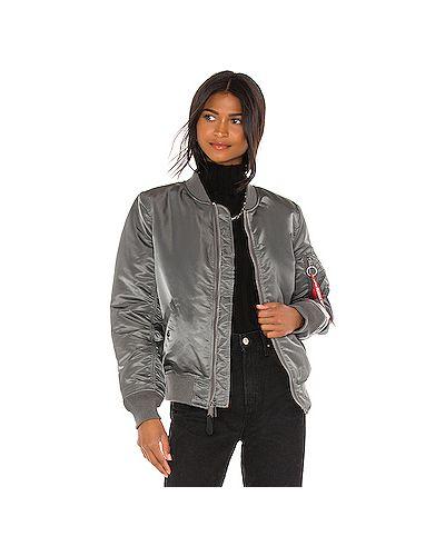 Серая с рукавами куртка с карманами Alpha Industries