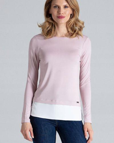 Bluzka asymetryczna - różowa Figl