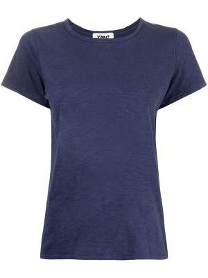 Niebieska koszulka bawełniana Ymc