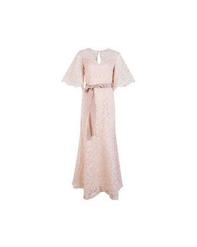 Хлопковое бежевое вечернее платье Vuall