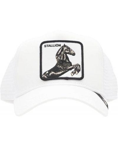Biały kapelusz z haftem Goorin Bros