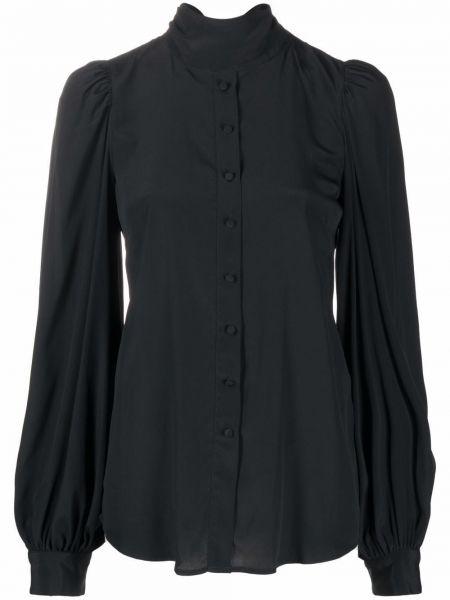Czarna bluzka z długimi rękawami Wandering