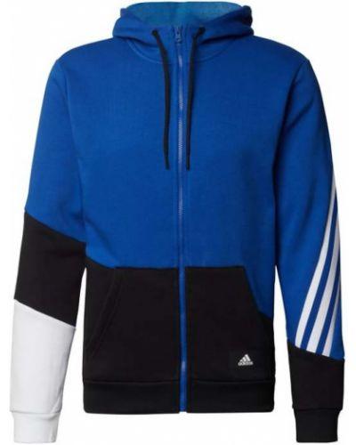 Niebieska bluza z kapturem Adidas Performance