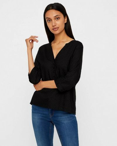 Блузка с длинным рукавом черная Vero Moda