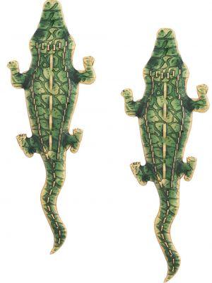 Зеленые серьги металлические Natia X Lako
