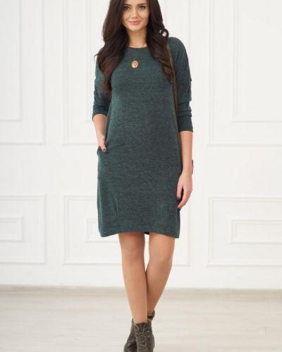 Платье из ангоры зеленый инсантрик