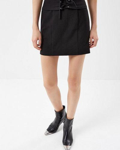 Черная юбка облегающая Only