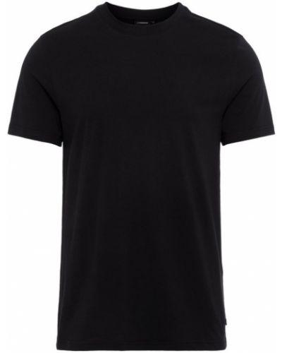 T-shirt bawełniana - czarna J.lindeberg