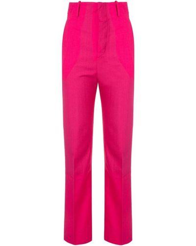 Шерстяные брюки - розовые Facetasm