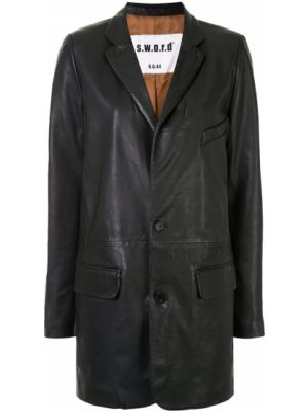 Черная куртка на пуговицах с лацканами с карманами S.w.o.r.d 6.6.44