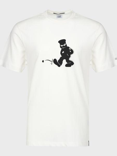Хлопковая футболка - белая C.p. Company