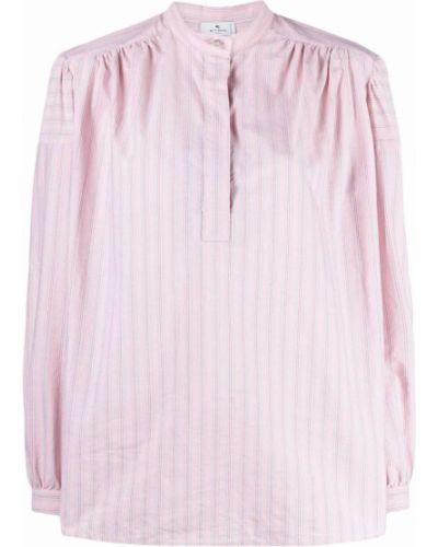 Розовая рубашка с длинным рукавом с длинными рукавами Etro