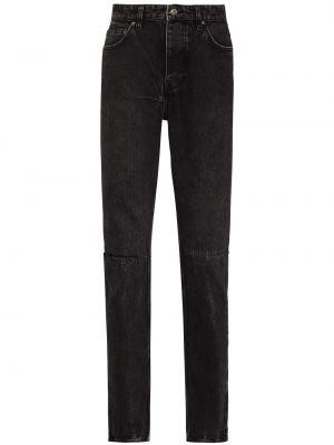Czarne klasyczne mom jeans Ksubi