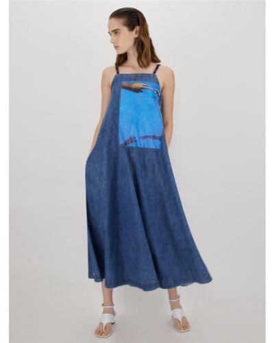 Синее платье Maxmara