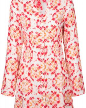 Прямое спортивное розовое пляжное платье из вискозы Exxtasy
