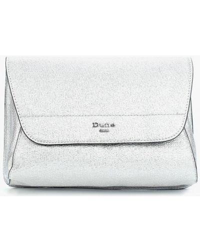 Кожаный сумка серебряного цвета Dune