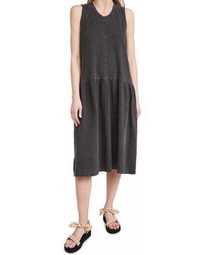 Трикотажное черное платье без рукавов Wilt
