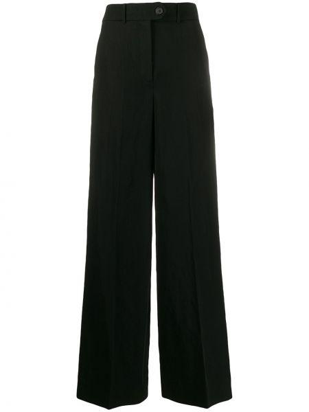 Шерстяные черные брюки с поясом Zanini