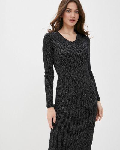 Вязаное черное платье снежная королева