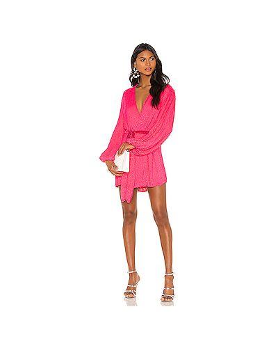 Платье розовое с запахом Retrofete
