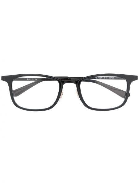 Prosto czarny oprawka do okularów metal prostokątny Ray-ban