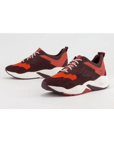 Buty sportowe skorzane - bordowe Timberland